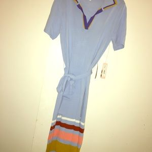 Casual baby blue dress
